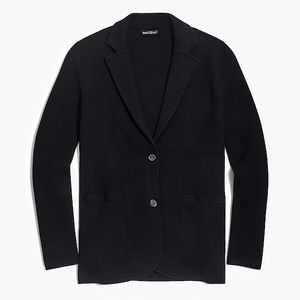 J.Crew Factory Sweater Blazer - Black